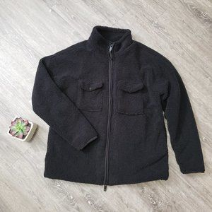 Kollar * Black Sherpa Teddy Bear Jacket * Sz XL